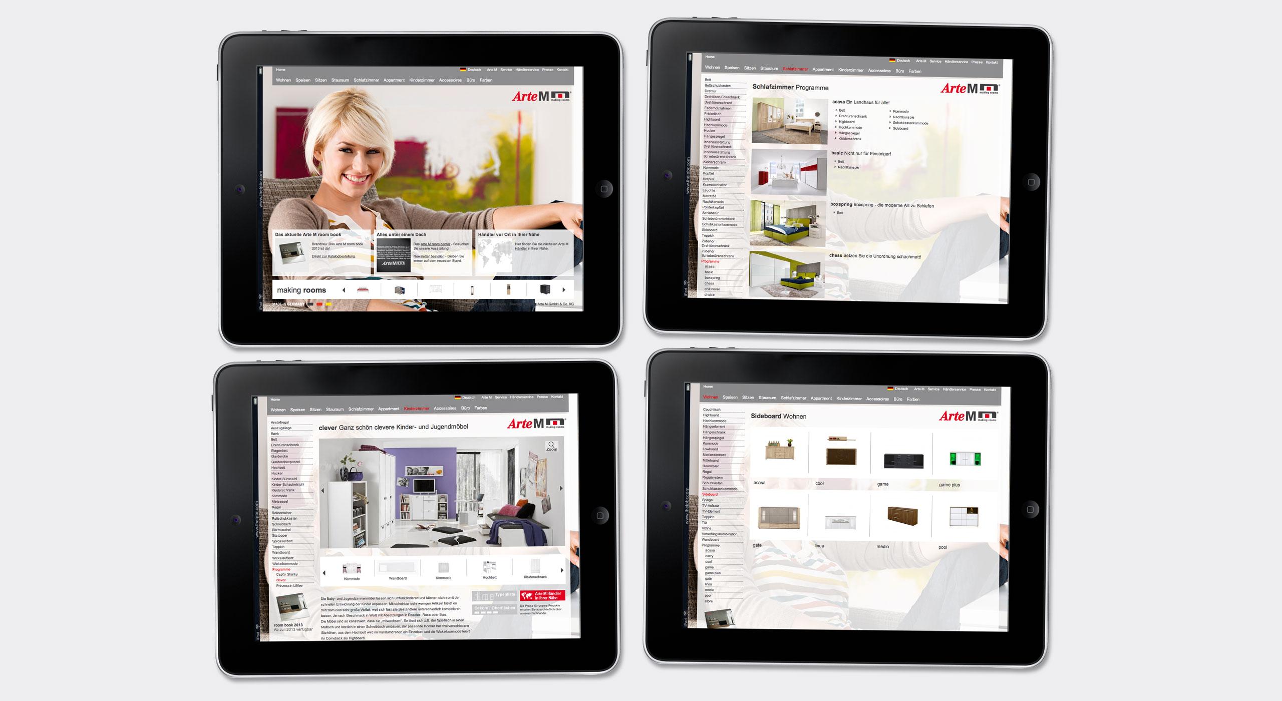 Arte M Hochwertige Möbel Zum Mitnehmen Projekt14 Werbeagentur