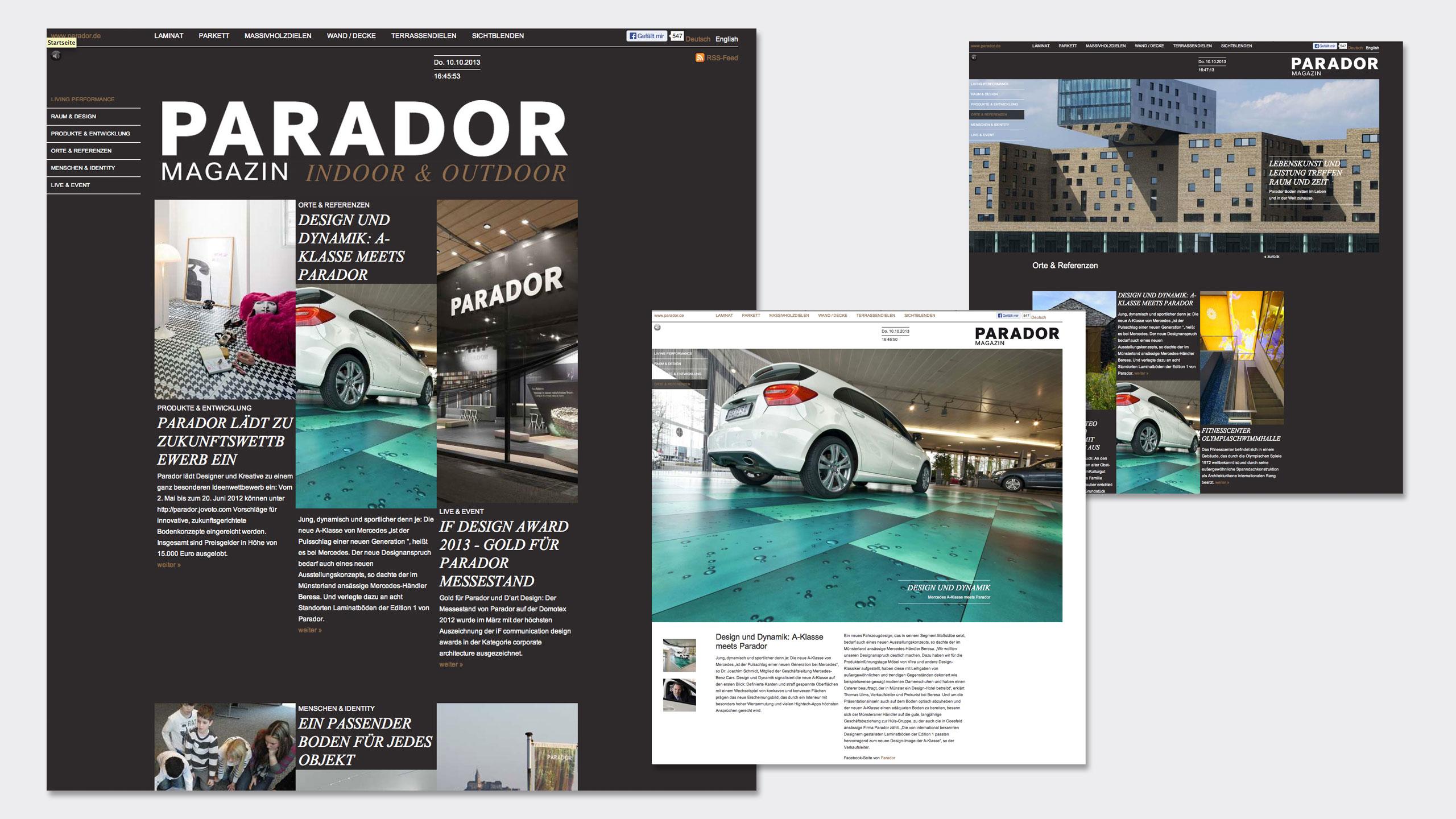 parador living performance projekt14 werbeagentur. Black Bedroom Furniture Sets. Home Design Ideas